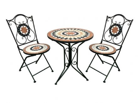SupaGarden Mosaic Bistro Set - Burnt Orange